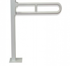 ידית אחיזה מתרוממת – חיבור לרצפה- אלומיניום בציפוי פלסטי ABS  'בטיחותי'